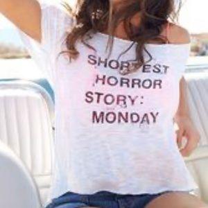 """Shortest Horror Story Monday"" Lose Fit Top"